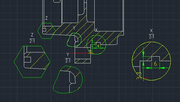 诺机械功能之局部详图与原图的联动